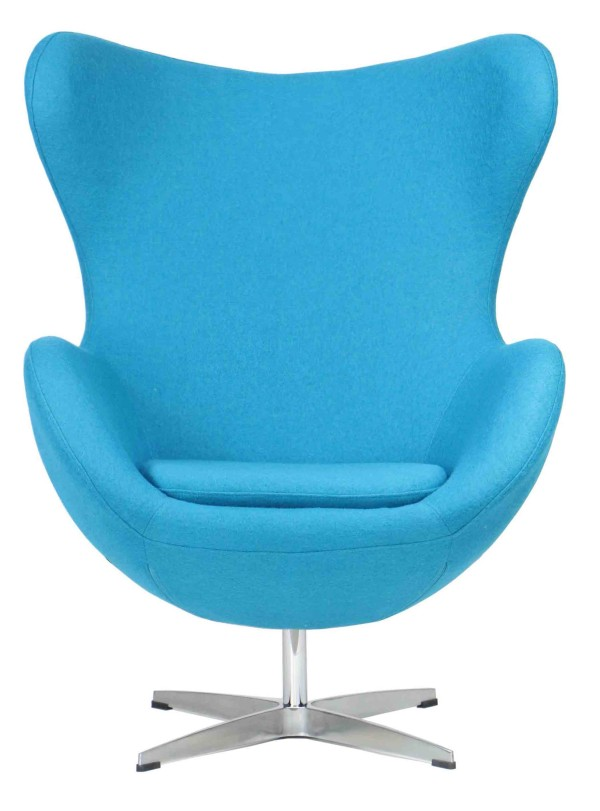 Designer replica egg chair in blue furniture home for Designer furniture replica malaysia