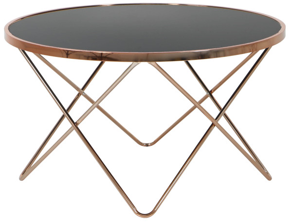 AS-IS Clearance: Carafa Round Table Copper/Black