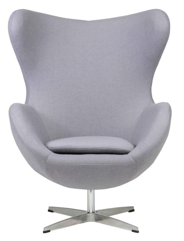 Egg Replica Chair (Light Grey)