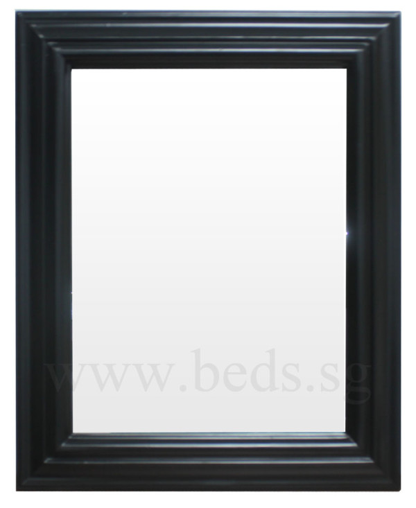 Garven Hanging Mirror Glossed Black 49.5cmx40cm