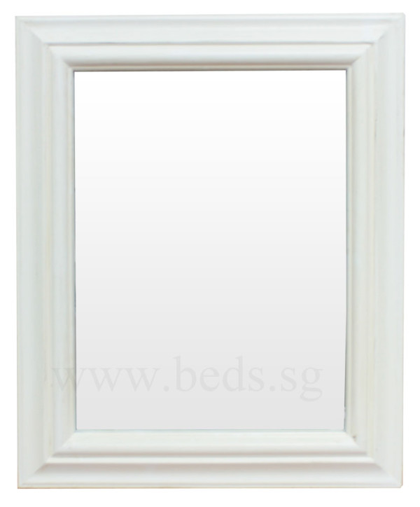 Garven Hanging Mirror Antique White 49.5cmx40cm