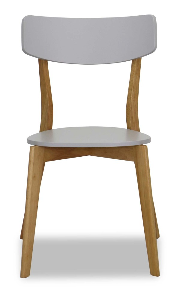 Claire Oak Dining Chair (Grey)