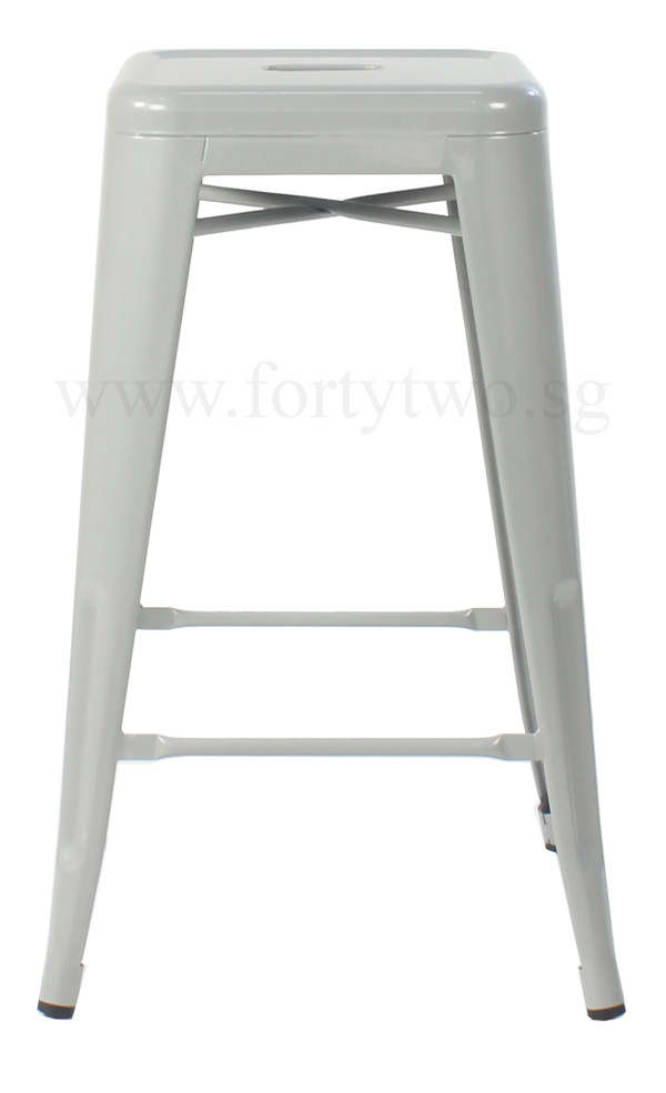 Retro Metal Counter Stool (Grey)