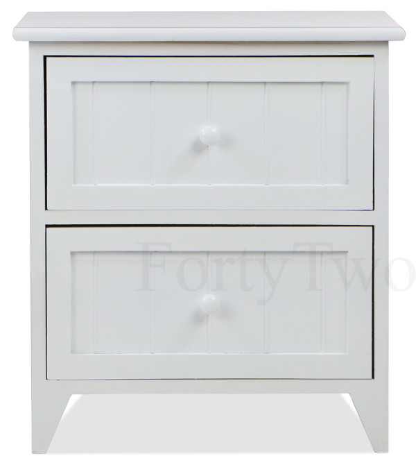Clover 2 Drawer Side Table