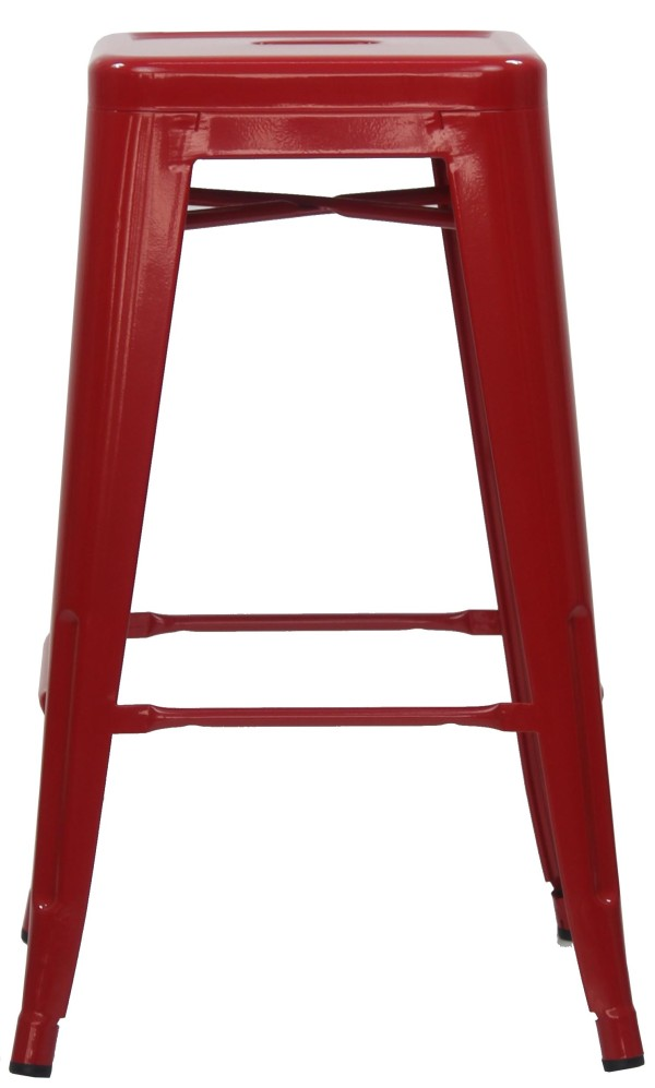 Retro Metal Medium Stool Red