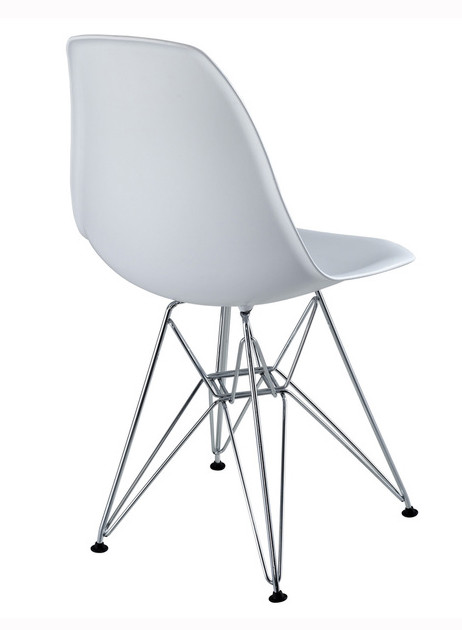 Eames White Replica Designer Chair With Steel Eiffel Legs Dining Chairs D
