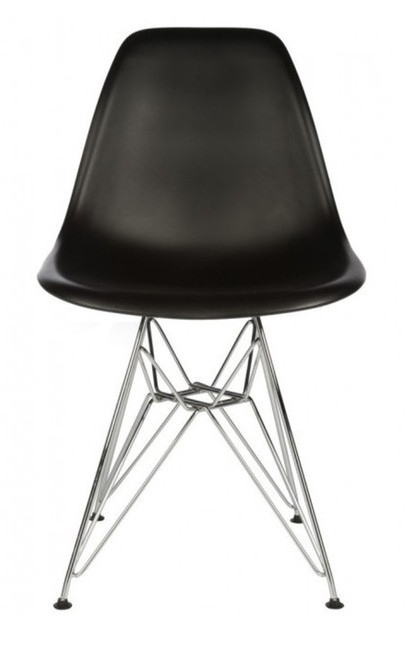 Eames Black Replica Designer Chair With Steel Eiffel Legs