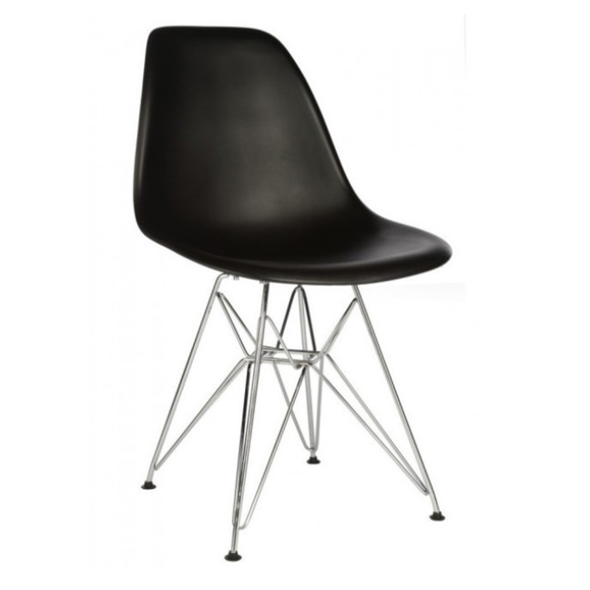 Eames Black Replica Designer Chair With Steel Eiffel Legs Furniture H
