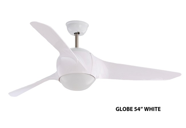 Fanco globe 54 ceiling fan white furniture home dcor fanco globe 54 ceiling fan white mozeypictures Image collections
