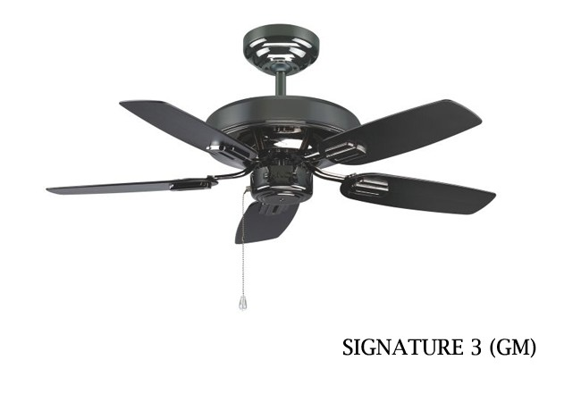Fanco Signature 3 Ceiling Fan 36 Inch Black