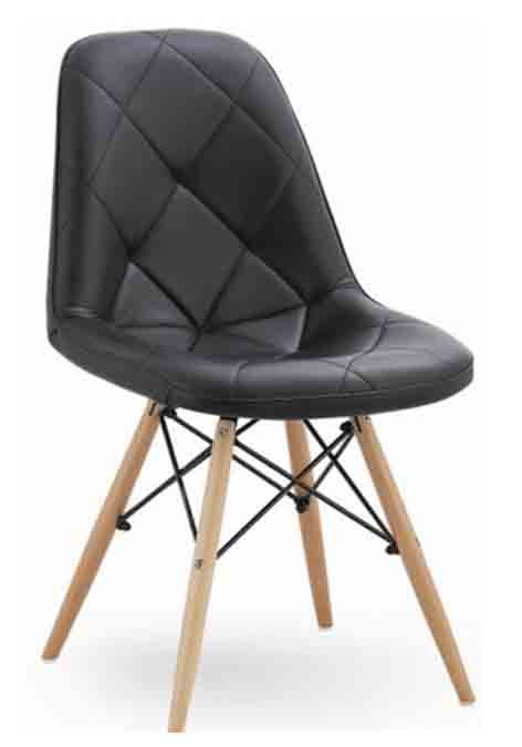 Eames II Cushioned Black Replica Designer Chair Dining Chairs Dining Room