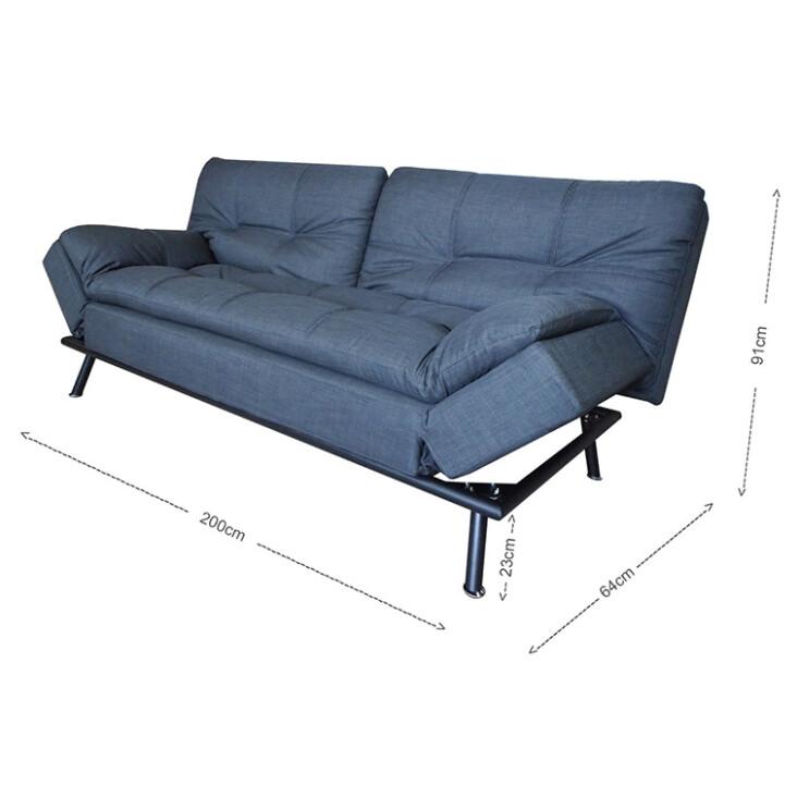 Jones 2 5 Seater Sofa Bed In Grey