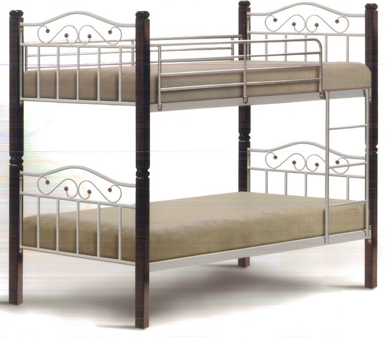 Dirr double decker bed silver furniture home d cor fortytwo - Double decker bed ...