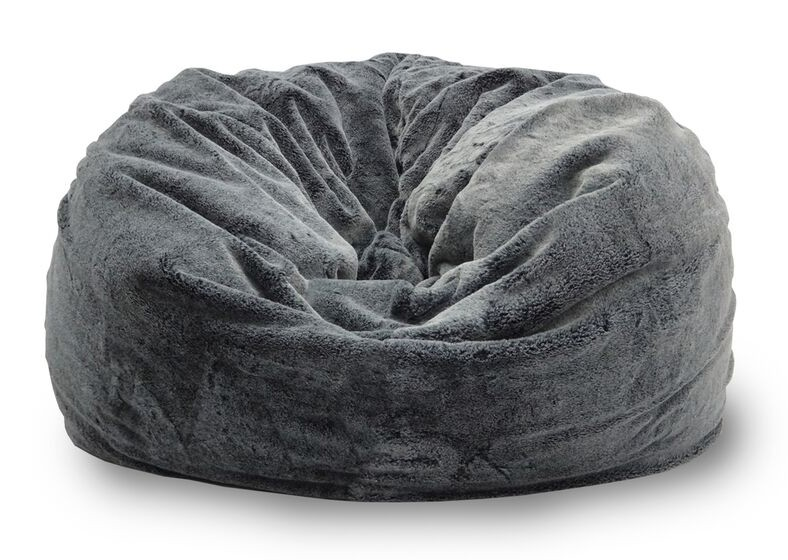 Achelous Bean Bag In Large Sized Charcoal Black Furniture Home