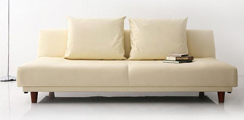 Sweden Sofa Bed Pvc Beige