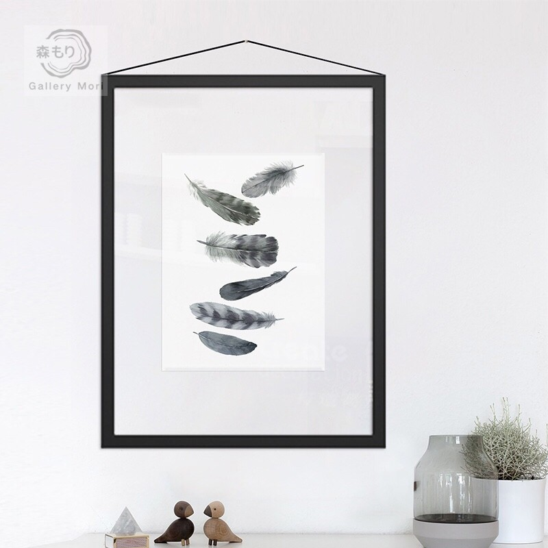 e1380e24f2 Gallery Mori  Transparent series (Black   White Feathers ...