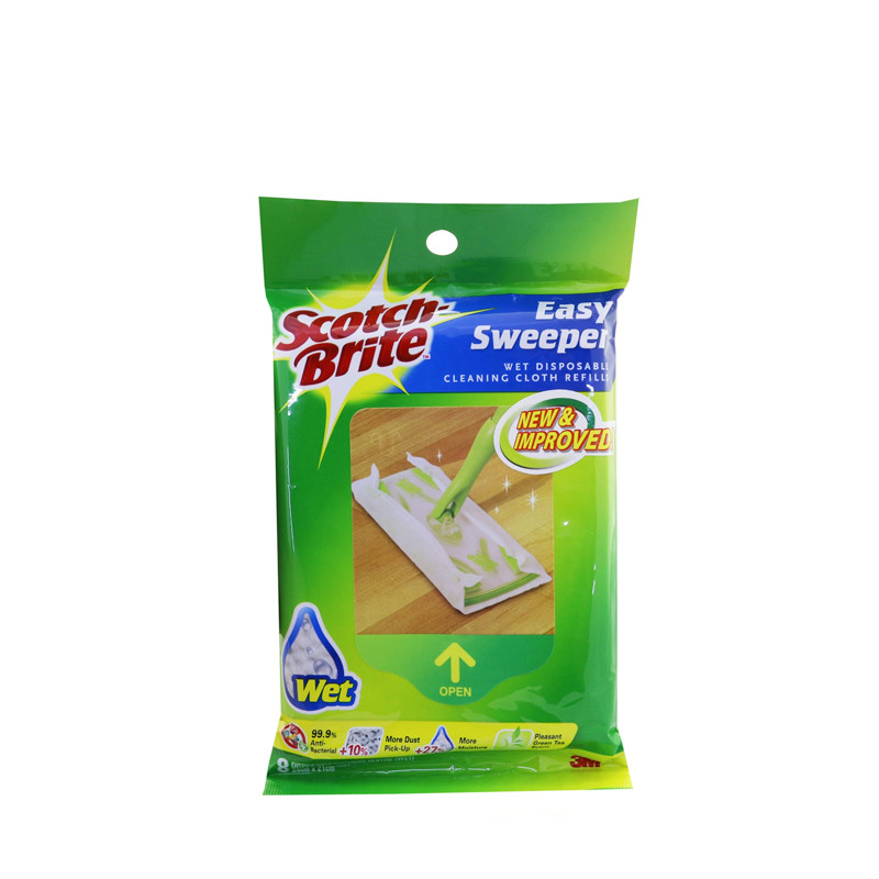 3M Scotch-Brite® Q600RW-E Easy Sweeper Wet Sheets Refill. Display Gallery Item 1