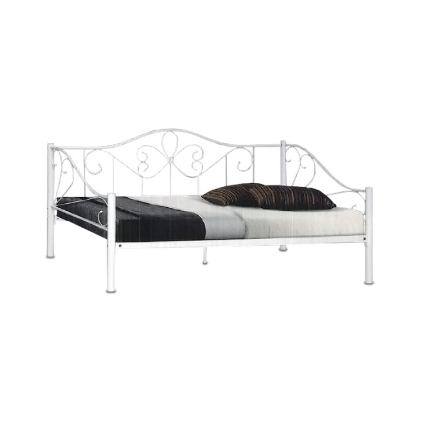 Renae Metal Day Bed In Super Single Size White Furniture Home