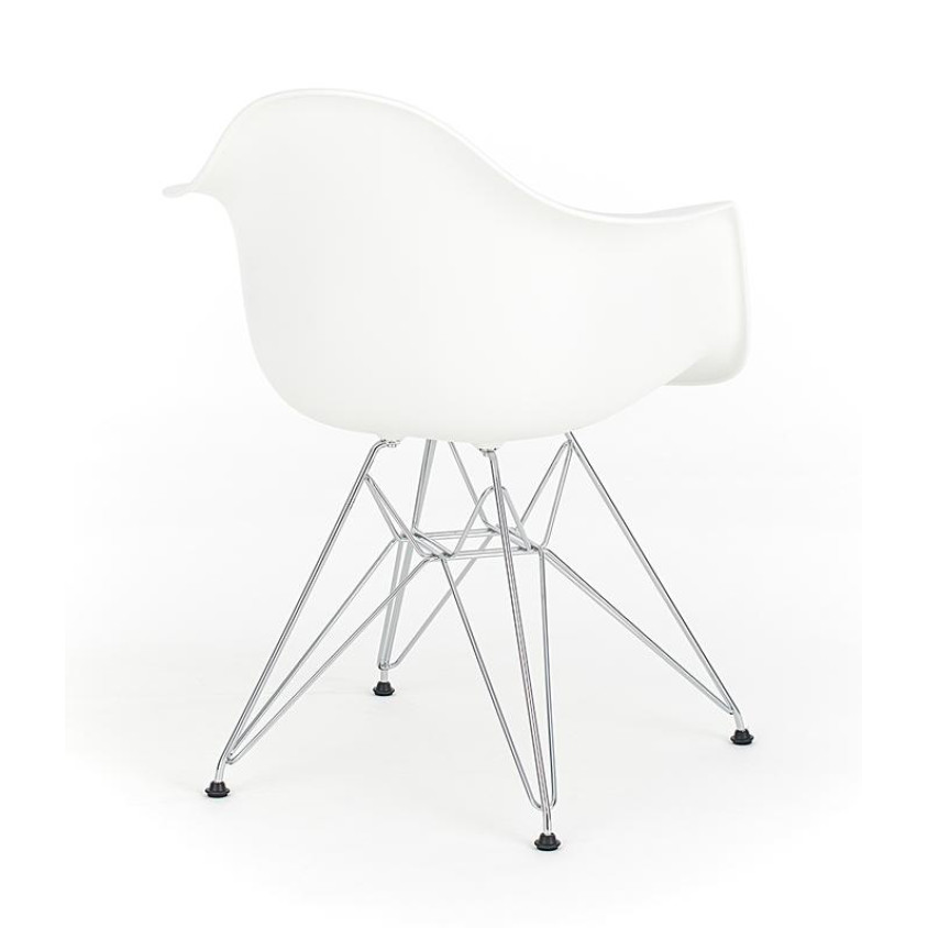 eames white replica designer arm chair with steel eiffel. Black Bedroom Furniture Sets. Home Design Ideas