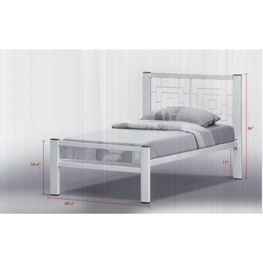 Aura Metal Bed Frame In Single Size Silver Furniture Home