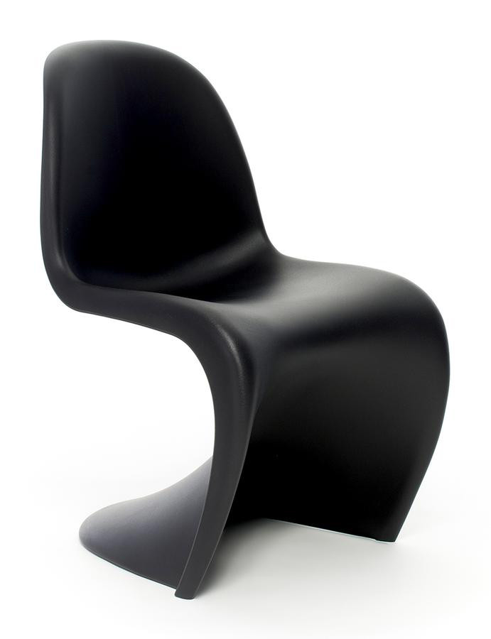designer replica panton chair black furniture home d cor fortytwo. Black Bedroom Furniture Sets. Home Design Ideas