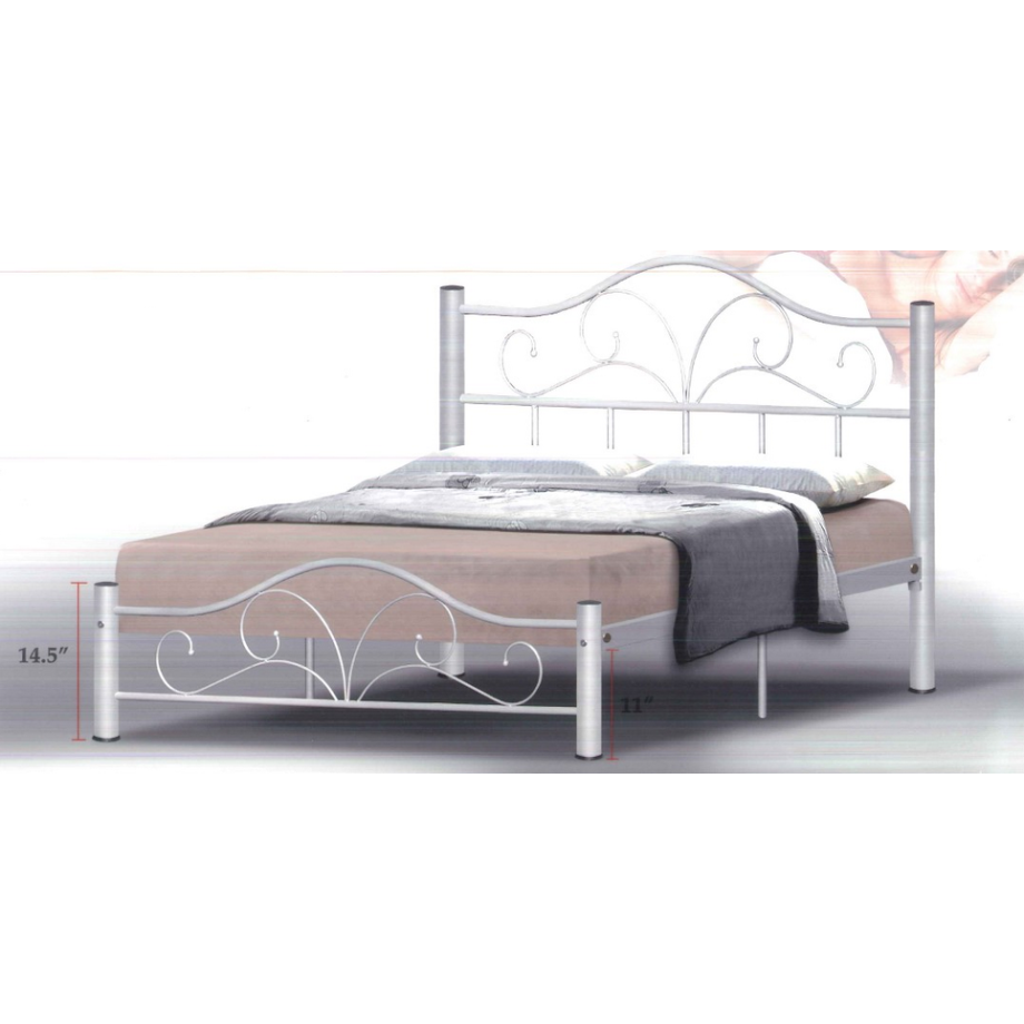silver bed frame queen dionysus metal bed frame in size silver 5212