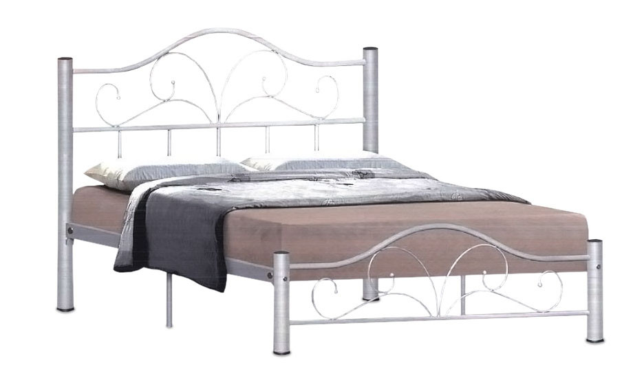 Steel Bed Frames Queen Metal Bed Frames Queen Size Extra: Dionysus Metal Bed Frame In Queen Size (Silver