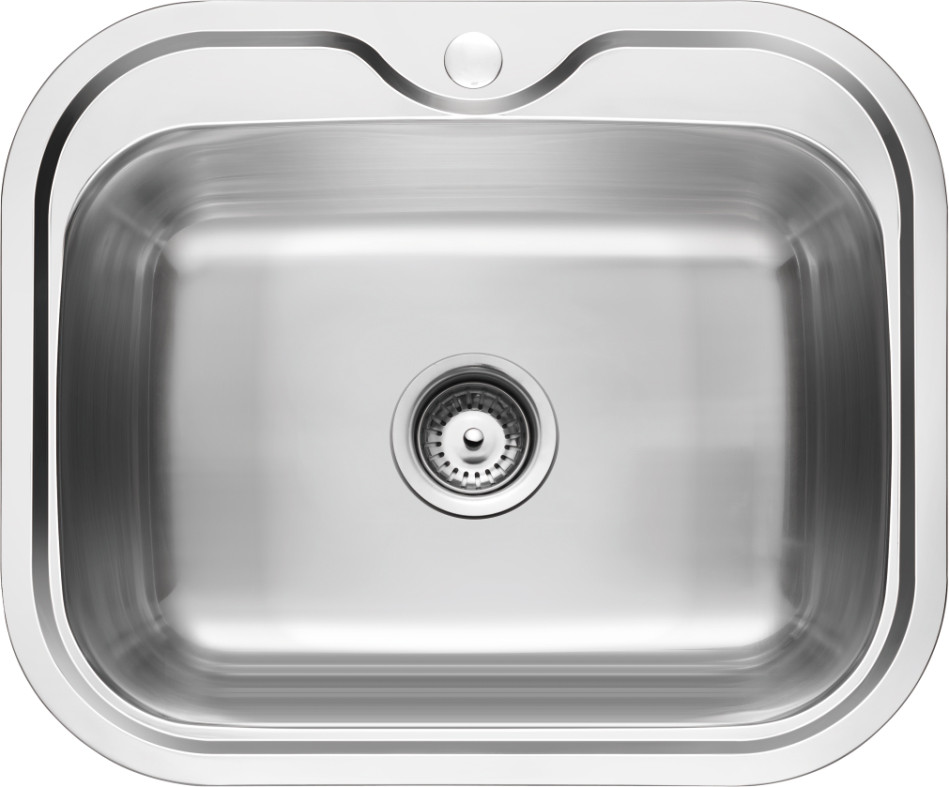 Rubine Stainless Steel Kitchen Sink 1 Bowl (PRX 610)   (Sink Tap