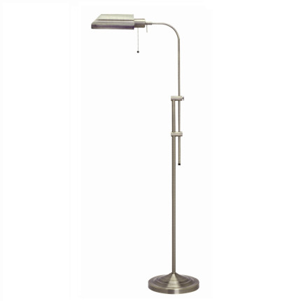 Cal lighting pharmacy floor lamp with brushed steel shade bo 117fl bs