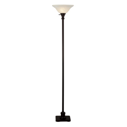 Hazelwood Home Torchiere Floor Lamp In Black Fortytwo