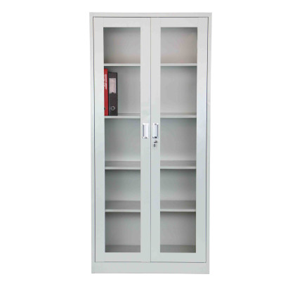 Helena High Steel Filing Cabinet Light Grey