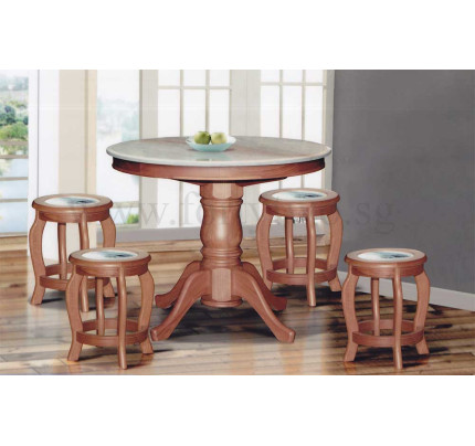 Buy Dining Table Sets Dining Room Furniture FortyTwo Singapore - Marble top circle dining table