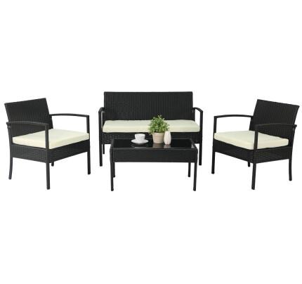Lazio Sofa Set (Black)
