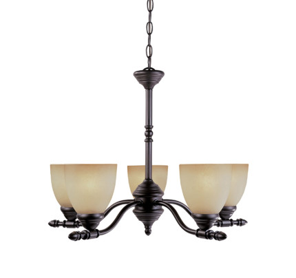 Designers fountain apollo 5 light chandelier in oil rubbed bronze 94085 orb
