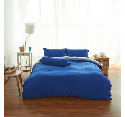 Cotton Pure™ Wrinkle Resistance Klein Blue Fitted Sheet Set
