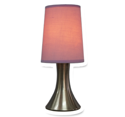 D Spot Touch Activated Lamp Lilac By Doob