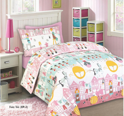Maxcoil Kidu0027s World Fitted Sheet Set   Fairy Tale