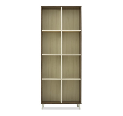 Alia Bookshelf In Walnut White