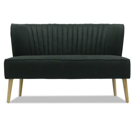 Adriel 2 Seater Sofa Dark Grey