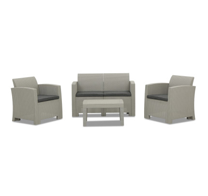 Nina 4 Seater Outdoor Sofa Set Light Grey