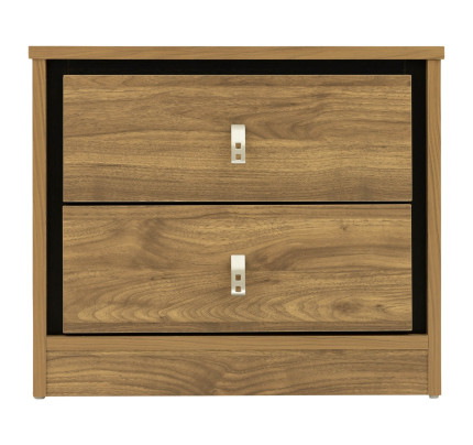 Bedroom Furniture Chest of Drawers Bed Side Table Cabinet White Light Oak Effect