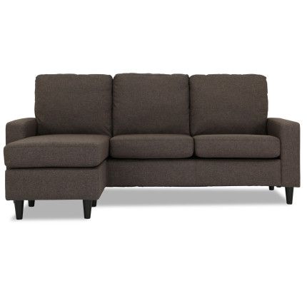 Ejiro L Shape Sofa In Brown