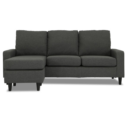 Ejiro L Shape Sofa In Grey