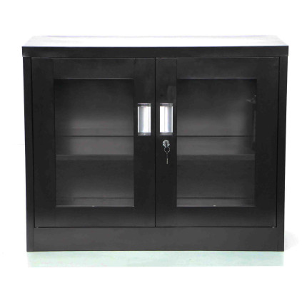Terra Low Steel Filing Cabinet Black