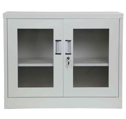 Terra Low Steel Filing Cabinet Light Grey
