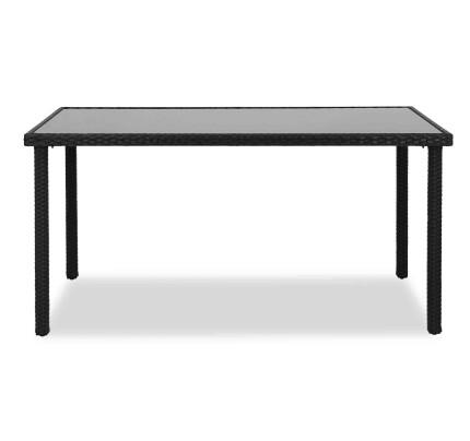 Wakiky Outdoor Dining Table Black
