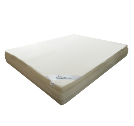 sleepthetic fitted memory foam topper queen 2 inch thick