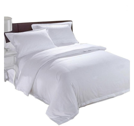 ISleep Premium Quality Soft Cotton Hotel Bed Sheet (White)