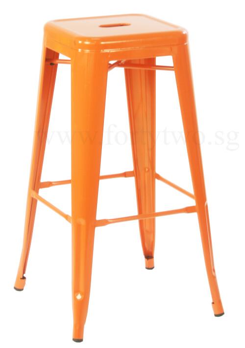 Retro Metal High Stool Orange Bar Stools Living Room  : horg2 from www.fortytwo.sg size 500 x 712 jpeg 49kB