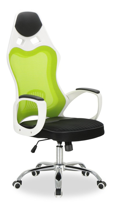 AS-IS Clearance: Lavoro High Executive Chair (White Frame + Green Mesh) RR36757